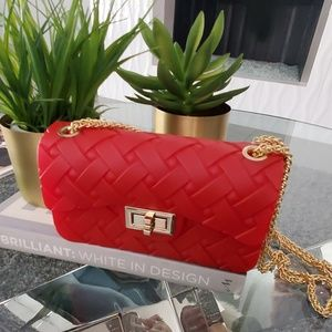 RED Jelly Tufted BAG